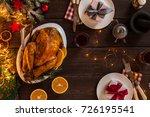 romantic new year dinner for... | Shutterstock . vector #726195541