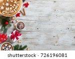 traditional homemade christmas... | Shutterstock . vector #726196081