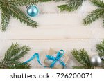 christmas background with... | Shutterstock . vector #726200071