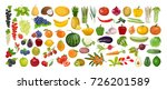 fruits and vegetables set on... | Shutterstock .eps vector #726201589