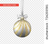 xmas balls silver and gold... | Shutterstock .eps vector #726203581