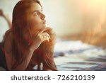 fashion portrait of a young... | Shutterstock . vector #726210139