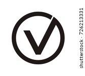 v initial letter logo inside... | Shutterstock .eps vector #726213331