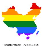 china pride gay map vector with ... | Shutterstock .eps vector #726213415