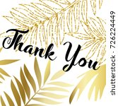 thank you word with modern hand ... | Shutterstock .eps vector #726224449
