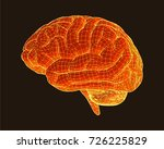 brain side view with wireframe  ... | Shutterstock .eps vector #726225829