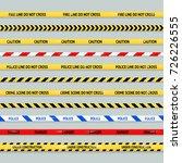 barricade tape design element... | Shutterstock . vector #726226555
