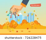 real estate agency. autumn city ... | Shutterstock .eps vector #726228475
