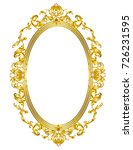 oval golden mirror frame | Shutterstock .eps vector #726231595