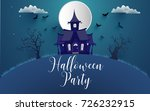 happy halloween poster and... | Shutterstock .eps vector #726232915