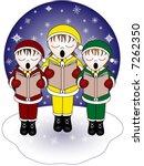 Three Christmas Carolers...