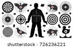 target for shooting set  man... | Shutterstock .eps vector #726236221