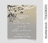 wedding invitation template... | Shutterstock . vector #726238201