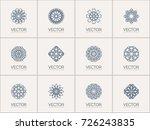 linear ornamental logo... | Shutterstock .eps vector #726243835