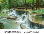 huay mae khamin waterfall in... | Shutterstock . vector #726246661