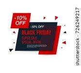 black friday sale label. stock... | Shutterstock .eps vector #726249217