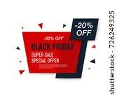 black friday sale label. stock... | Shutterstock .eps vector #726249325