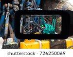 industrial 4.0   smart helmet... | Shutterstock . vector #726250069