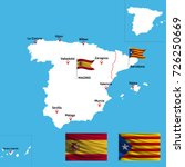 a detailed map of spain with...   Shutterstock .eps vector #726250669