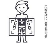 x ray medical diagnostics man ...   Shutterstock .eps vector #726256501