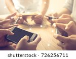 close up hand using mobile... | Shutterstock . vector #726256711
