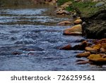 river in mountains with red... | Shutterstock . vector #726259561