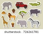 big set stickers with african... | Shutterstock .eps vector #726261781