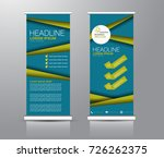 roll up banner stand template.... | Shutterstock .eps vector #726262375