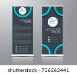 roll up banner stand template.... | Shutterstock .eps vector #726262441