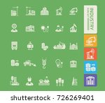industry icon set vector | Shutterstock .eps vector #726269401