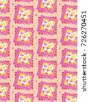 patterns of bright pink... | Shutterstock .eps vector #726270451