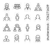 simple collection of human... | Shutterstock .eps vector #726271639