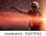 usa army soldier  isaf  with... | Shutterstock . vector #726275761