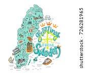 hand drawn illustration of... | Shutterstock .eps vector #726281965