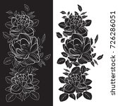 black roses double drawing   Shutterstock .eps vector #726286051