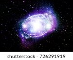 stars  dust and gas nebula in a ... | Shutterstock . vector #726291919
