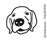 Stock vector portrait of puppy golden retriever dog breed on white background vector illustration 726292939