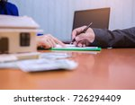 business with customer after... | Shutterstock . vector #726294409