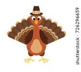 Turkey Happy Thanksgiving Vector