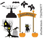 halloween icon vector. isolated ... | Shutterstock .eps vector #726296977