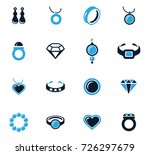 jewelry vector icons for user... | Shutterstock .eps vector #726297679