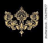 golden vector pattern on a... | Shutterstock .eps vector #726299077