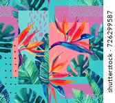 abstract tropical summer design ... | Shutterstock . vector #726299587