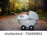 little newborn baby boy ... | Shutterstock . vector #726300841