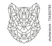vector graphic geometric image. ... | Shutterstock .eps vector #726302785