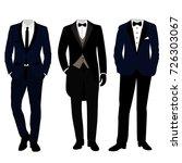 wedding men's suit and tuxedo.... | Shutterstock .eps vector #726303067