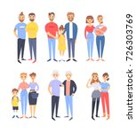 set of different couples and... | Shutterstock .eps vector #726303769