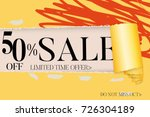 sale advertisement banner on... | Shutterstock .eps vector #726304189