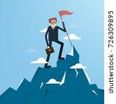 businessman holding a success...   Shutterstock .eps vector #726309895