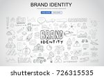 brand identity concept with... | Shutterstock .eps vector #726315535